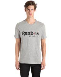 Reebok - Iconic Printed Logo T-shirt - Lyst