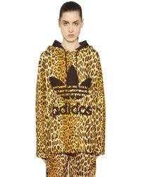 Jeremy Scott for adidas - Leopard Printed Cotton Sweatshirt - Lyst