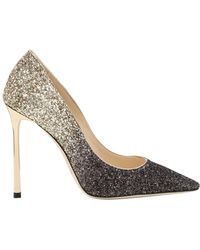 Jimmy Choo - 110mm Romy Gradient Glittered Court Shoes - Lyst