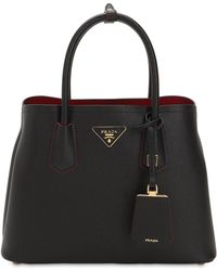 Prada - Saffiano Leather Top Handle Bag - Lyst