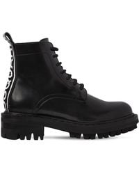 DSquared² - 30mm Logo Brushed Leather Ankle Boots - Lyst
