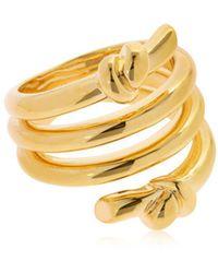 Eshvi | Venus Gold Plated Ring | Lyst