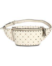 Valentino - Spike Embellished Leather Belt Bag - Lyst