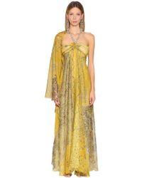Etro - Printed Silk Georgette Dress - Lyst
