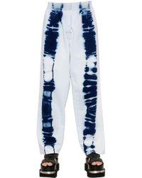 MM6 by Maison Martin Margiela - Tie Dye Printed Cotton Jeans - Lyst