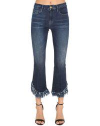 FRAME - Ausgestellte Jeans Aus Denim Mit Fransen - Lyst