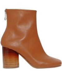 Maison Margiela - 80mm Sock Brushed Leather Ankle Boots - Lyst