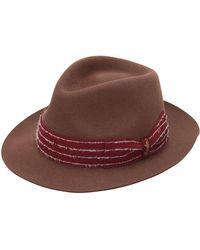 06df2a46f05e4b Borsalino - Fur Felt Hat W/ Embroidered Hat Band - Lyst