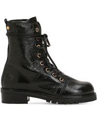 Stuart Weitzman - 30mm Metermaid Patent Leather Boots - Lyst