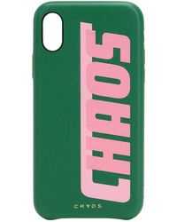 Chaos - Printed Leather Iphone X Cover - Lyst