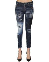 DSquared² - Cool Girl Destroyed Denim Jeans - Lyst