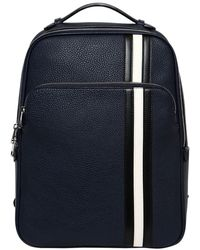 Bally - Pebbled Leather Backpack W/ Stripes - Lyst