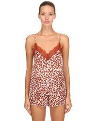 Love Stories - Leopard Print Pyjama Tank Top - Lyst
