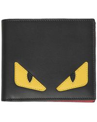 Fendi - Leather Wallet With Print - Lyst