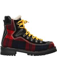 DSquared² - 40mm Canada Plaid Hiking Boots - Lyst