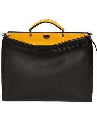Fendi - Peekaboo Textured Leather Bag - Lyst