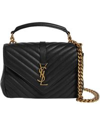Saint Laurent - Medium University Monogram Leather Bag - Lyst