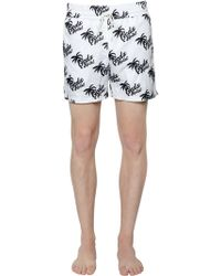 Gcds - Palm Trees Printed Nylon Swim Shorts - Lyst