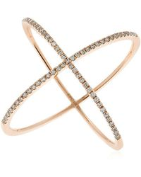 EF Collection | Diamond X Ring | Lyst
