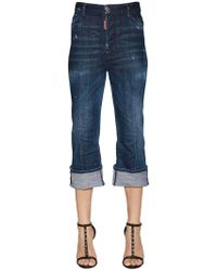 DSquared² - Cropped Flared Denim Jeans - Lyst