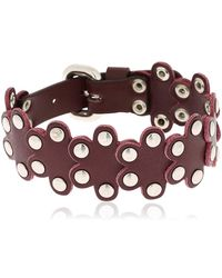 RED Valentino - Red V Puzzle Studded Leather Bracelet - Lyst