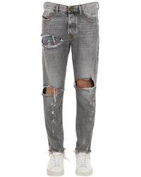 """DIESEL - """"Jeans """"""""mharky"""""""" In Denim Di Cotone Destroyed"""" - Lyst"""