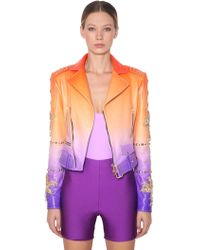 Fausto Puglisi - Tie Dye Printed Leather Jacket - Lyst