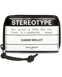 Maison Margiela - Stereotype Leather Zip Card Wallet - Lyst