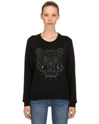 KENZO - Tiger Embroidery Cotton Sweatshirt - Lyst