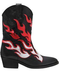 Chiara Ferragni - 50mm Flames Leather Cowboy Boots - Lyst