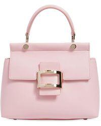 Roger Vivier   Mini Viv' Leather Top Handle Bag   Lyst