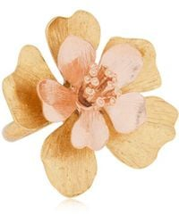 Oscar de la Renta - Bold Flower Ring - Lyst
