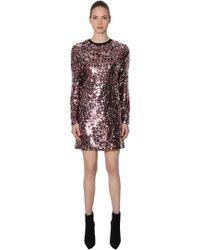 McQ - Sequined Mini Dress - Lyst