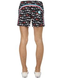 "Sundek - 14"" Fish Print Nylon Swim Shorts - Lyst"