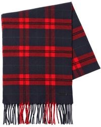 DSquared² - Checked Wool & Cashmere Scarf - Lyst