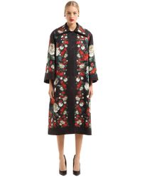 Dolce & Gabbana | Brocade Roses Coat | Lyst