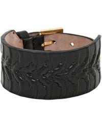 Alexander McQueen - Rib Cage Leather Bracelet - Lyst
