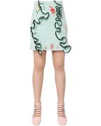 Vivetta - Yaren Ruffle Mini Skirt - Lyst