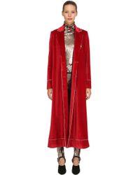 Stella Jean - Velvet Robe Coat - Lyst