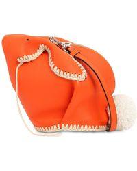 Loewe - Bunny Macramé Leather Shoulder Bag - Lyst
