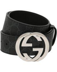 Gucci - 40mm Gg Supreme Leather Belt - Lyst