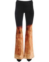 Balmain - Gradient Bleached Velvet Flared Pants - Lyst