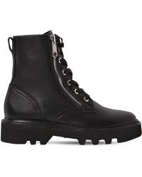 Calvin Klein - 30mm Diahne Tumbled Leather Combat Boots - Lyst