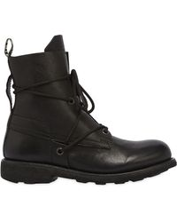 Bikkembergs - 20mm Low Washed Leather Boots - Lyst