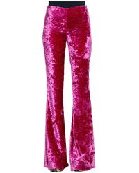 Jeremy Scott - High Rise Boot Cut Velvet Trousers - Lyst