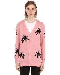 Garçons Infideles - Palm Intarsia Cotton Knit Cardigan - Lyst