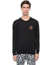 Dolce & Gabbana - Heart Patch Cotton Gauze Knit Sweater - Lyst