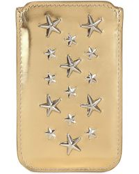 Jimmy Choo - Trent Mirror Leather Iphone 4 Case - Lyst