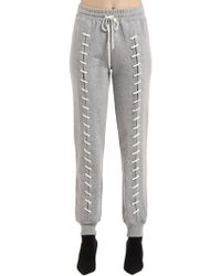 Jonathan Simkhai - Whip Stitch Cotton French Terry Trousers - Lyst