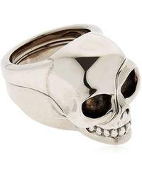 """Alexander McQueen - Anillo """"divided Skull"""" - Lyst"""